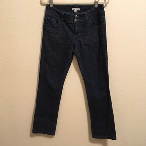 CAbi Lou Lou Dark Wash Slim Straight Jeans 4
